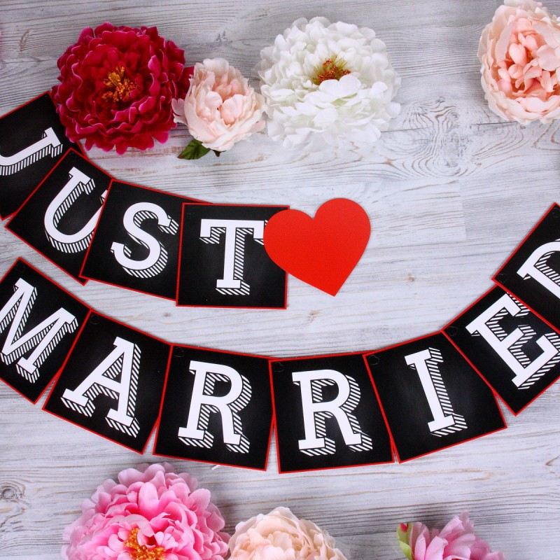 Гирлянда «Just Married»