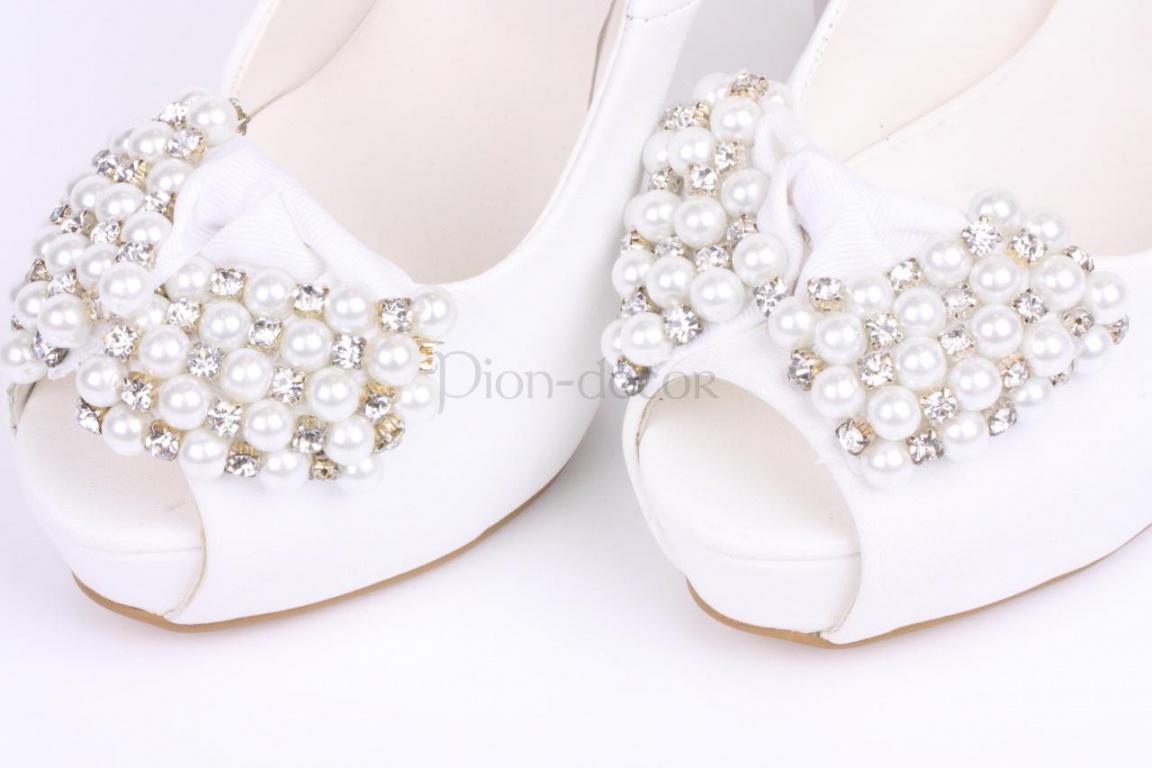 свадебные туфли на шпильке