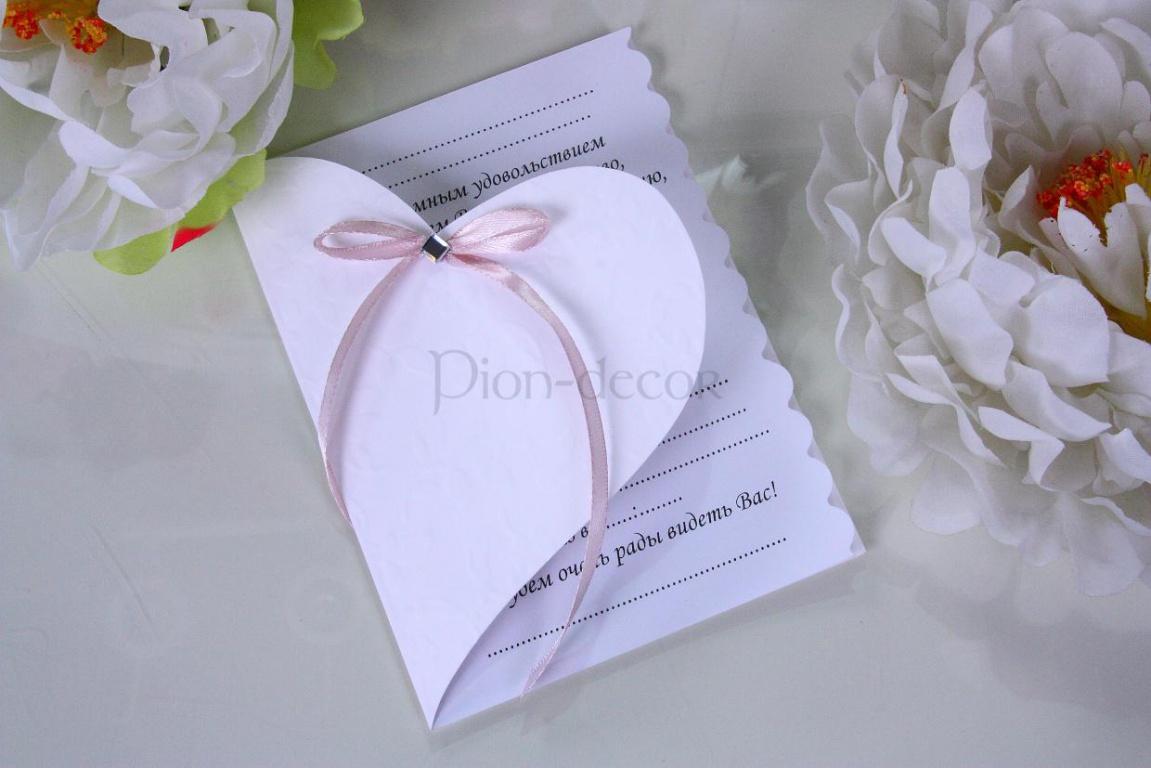 Приглашения на свадьбу пион