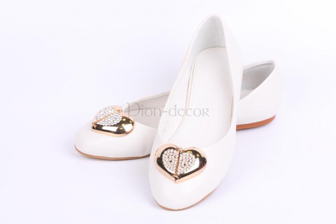 0209438e3 Свадебные туфли без каблука - салон Pion-decor