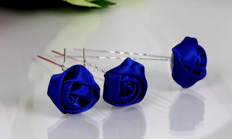 Как сделать розу из ленты заколках