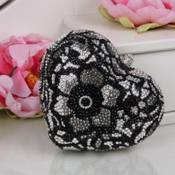 Клатч - «Black and White» - Swarovski