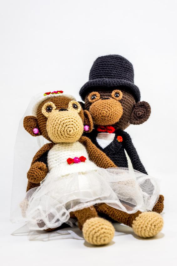 Вязаные аксессуары для свадьбы