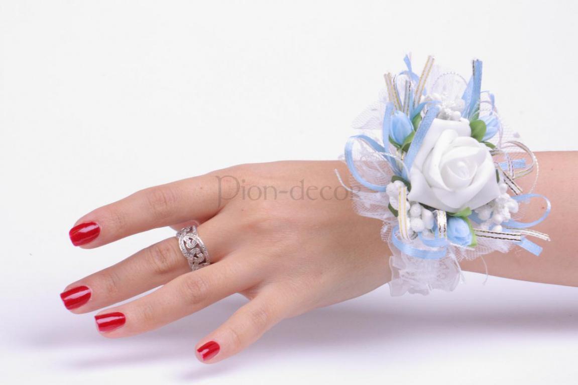 Бутоньерка подружкам невесты своими руками