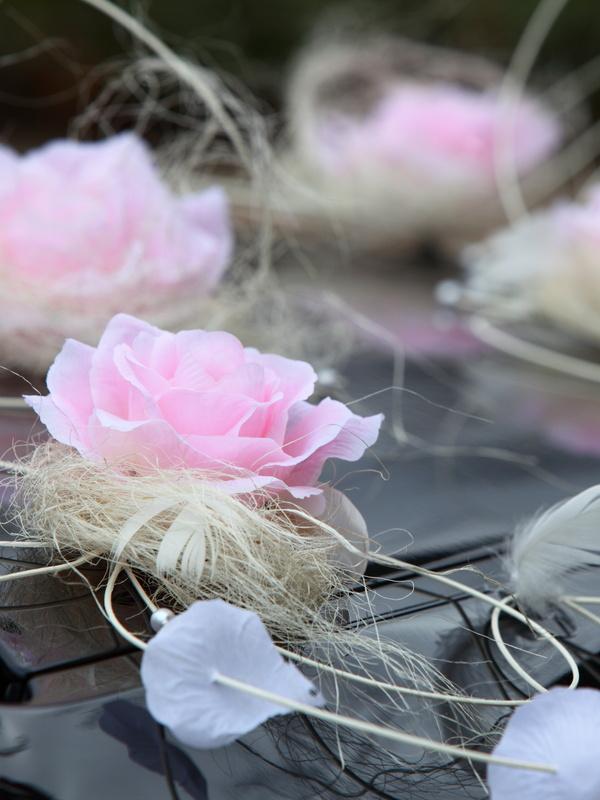 Украсить цветами свадебный кортеж