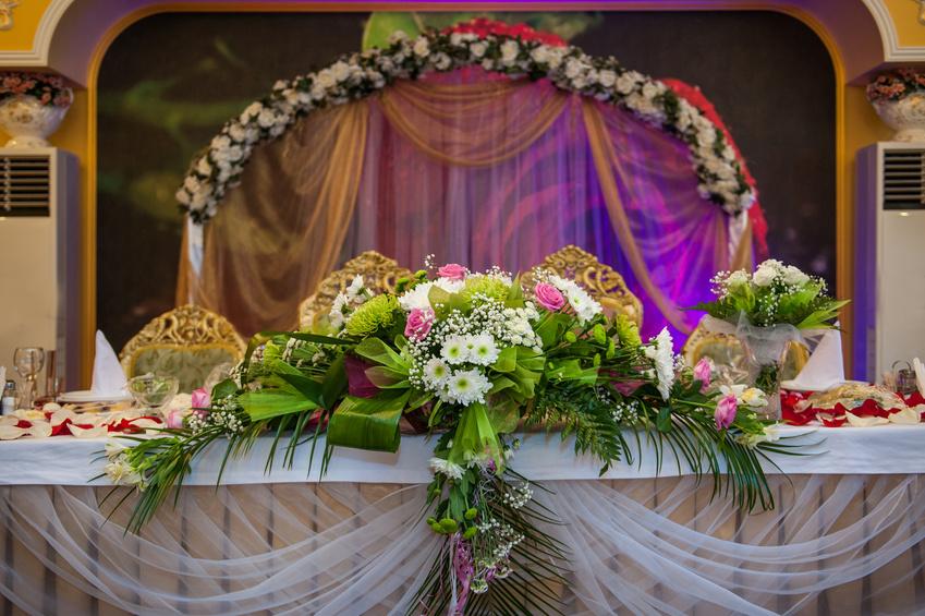 Свадебный декор зала своими руками