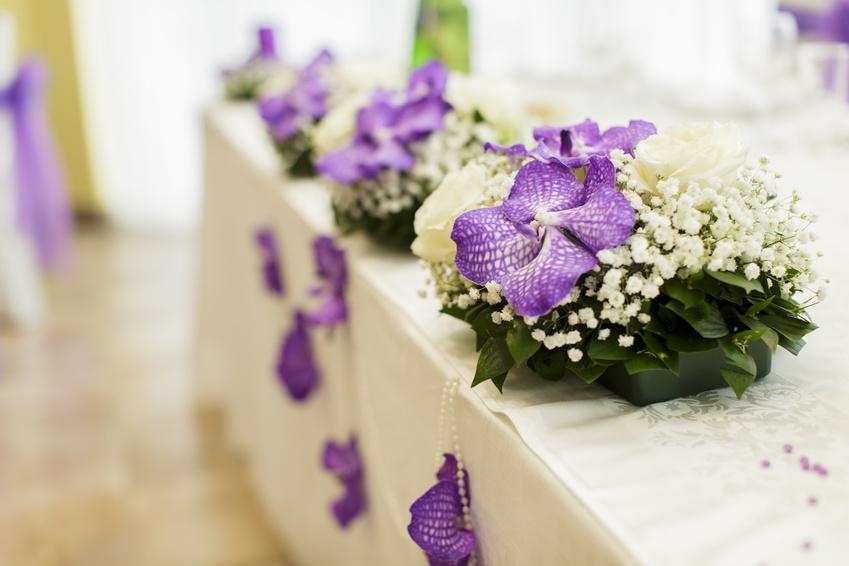 Красивое оформление стола на свадьбу
