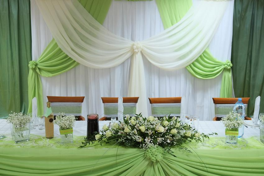 Украшения свадебного стола из ткани своими руками