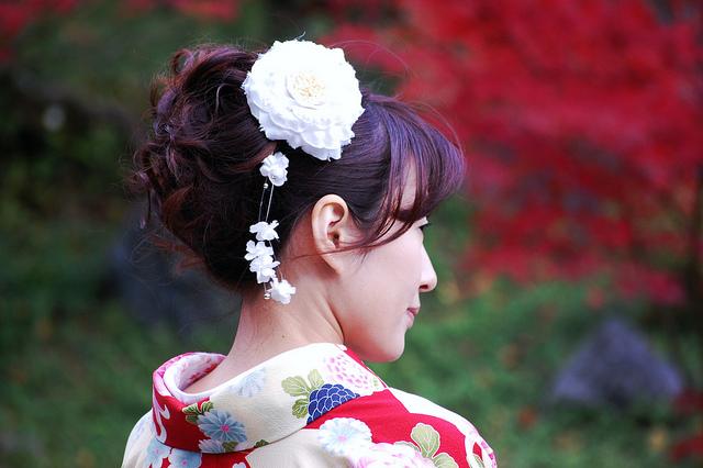 Свадебные украшения в стиле канзаши