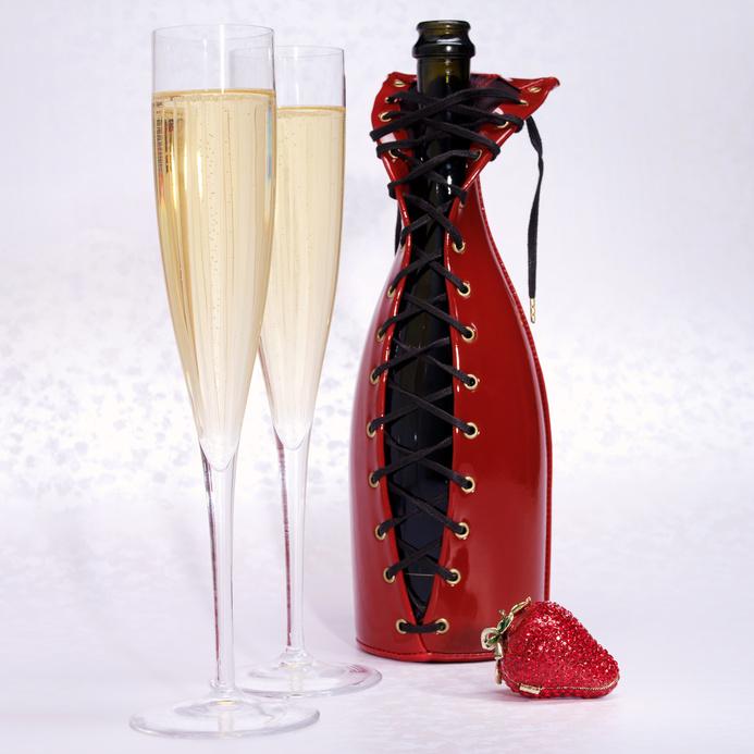 Украшение на бутылок на свадьбу