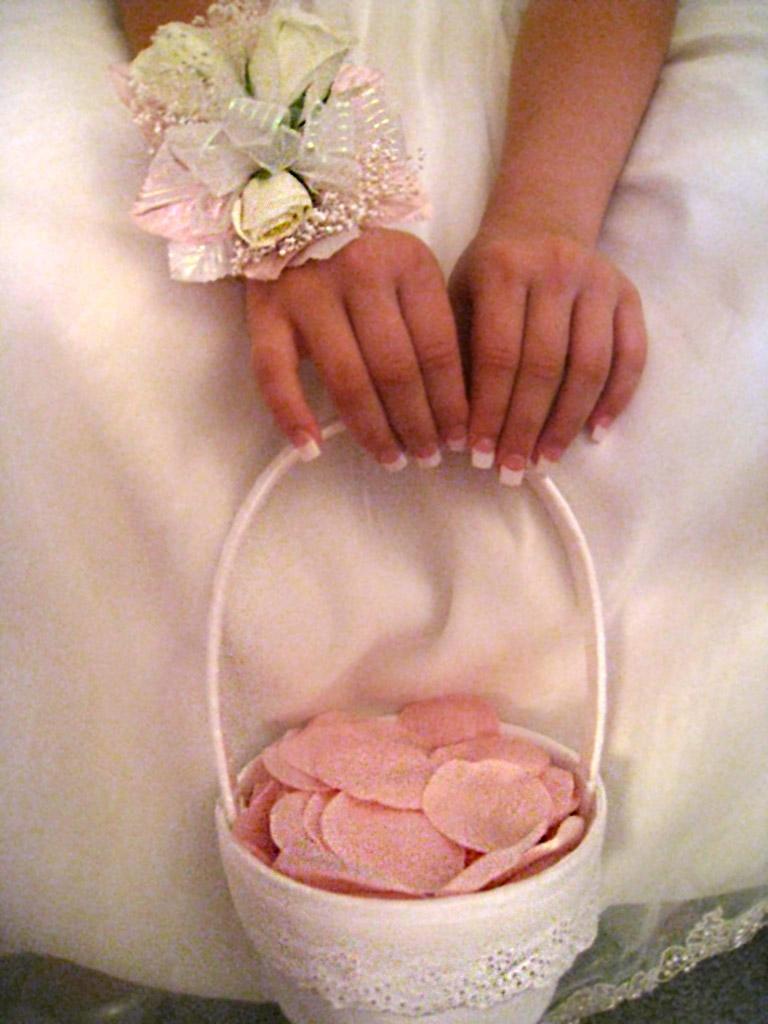 Украшение своими руками корзины на свадьбу