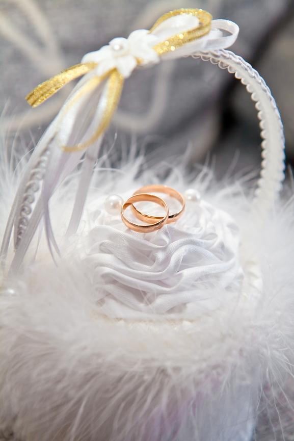 Свадебная корзина для обручальных колец