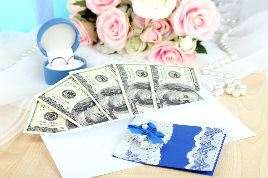 Сколько дают на свадьбу денег