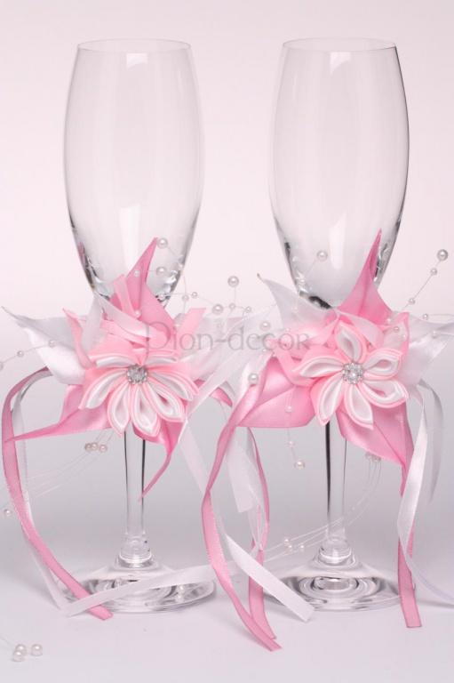 Свадебные бокалы с украшением