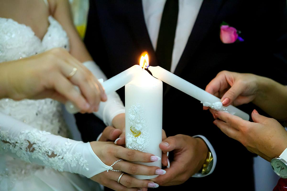 Оформление свечей на свадьбу
