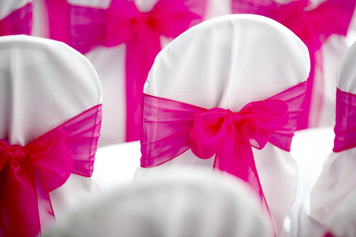 Оформление свадьбы тканью и лентами