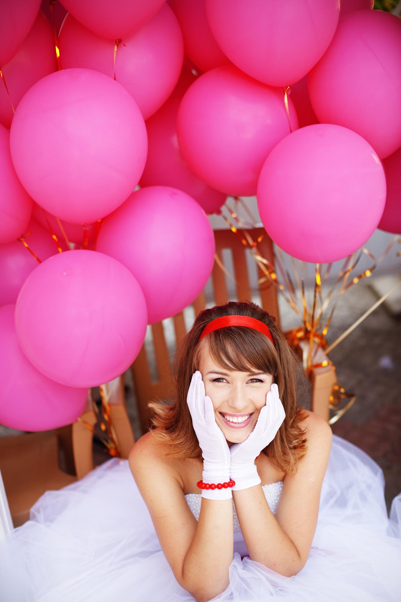 Украшение комнаты невесты воздушными шарами