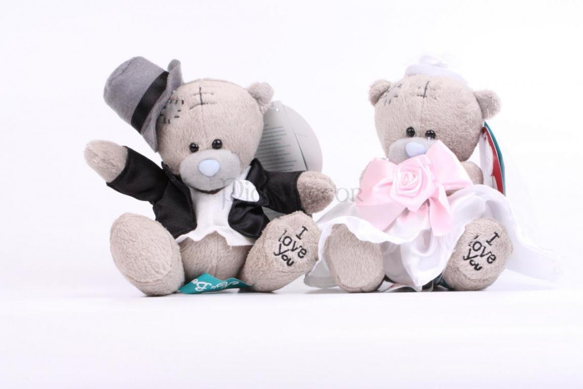 Аксессуары для украшения комнаты невесты - свадебные мишки