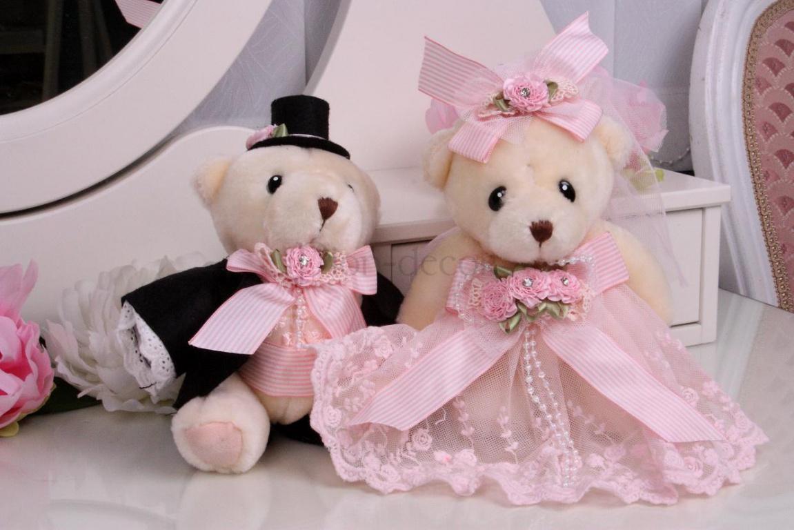 Украшения для комнаты невесты - свадебные мишки