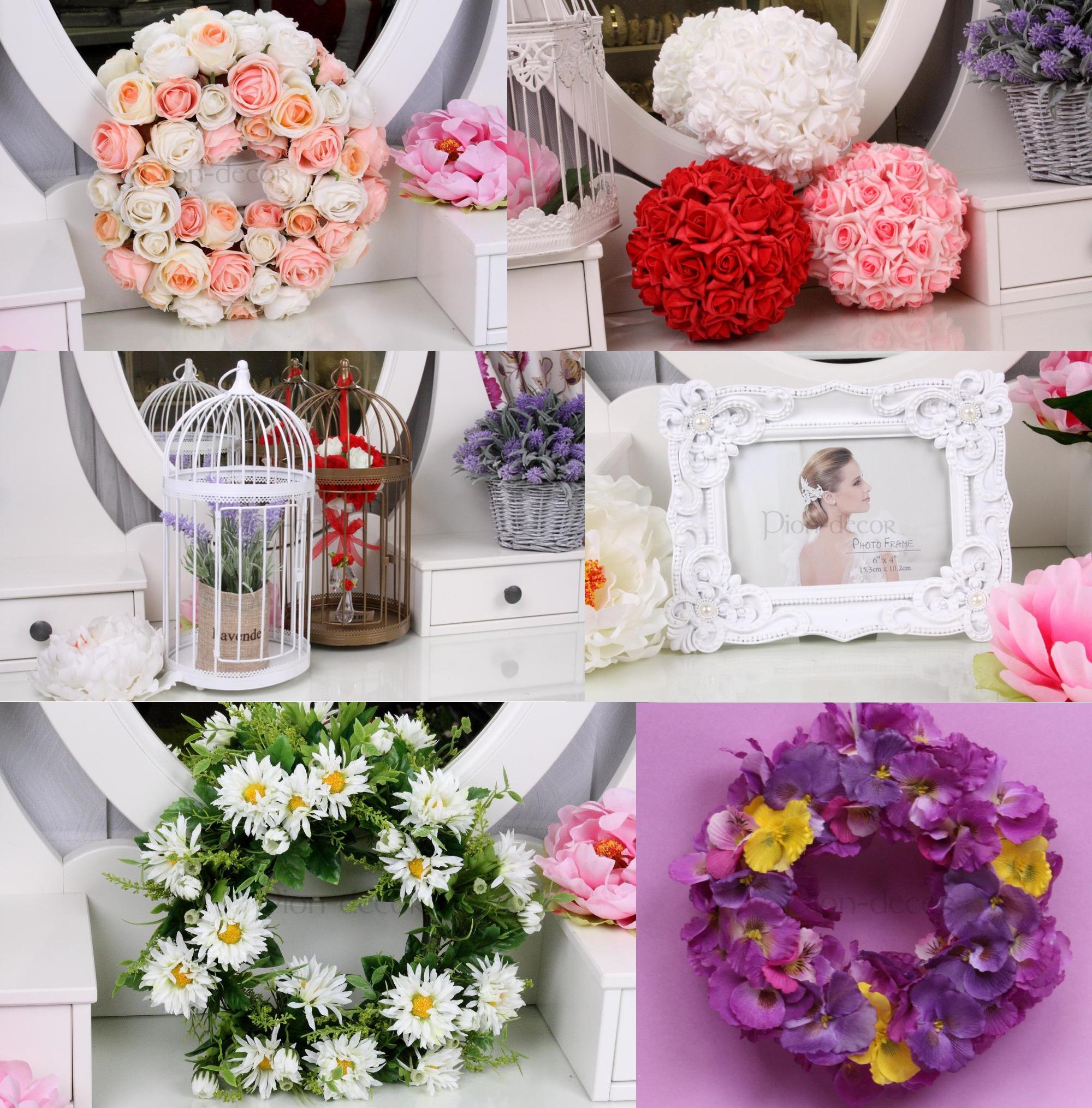 Украшения для комнаты невесты из искусственных цветов