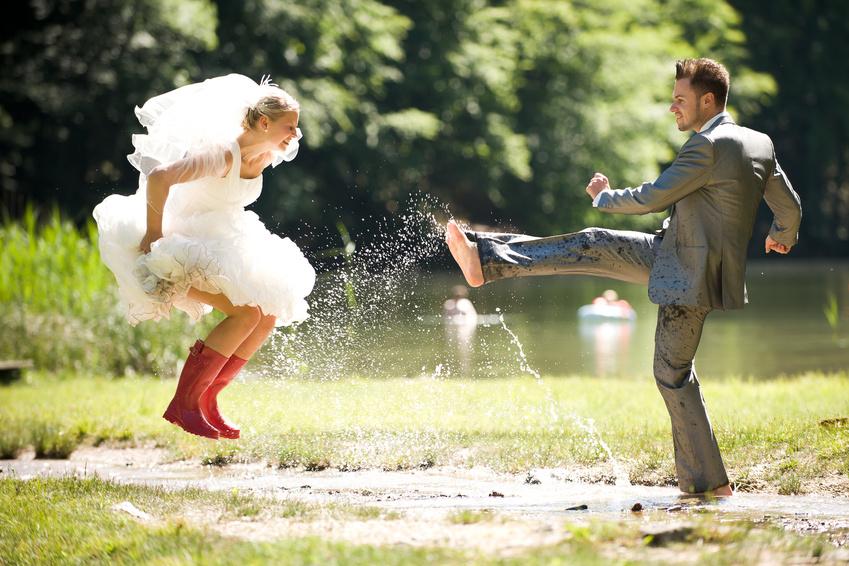 Необычные аксессуары для свадебной фотосессии