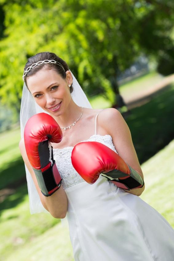 Боксерские перчатки для невесты