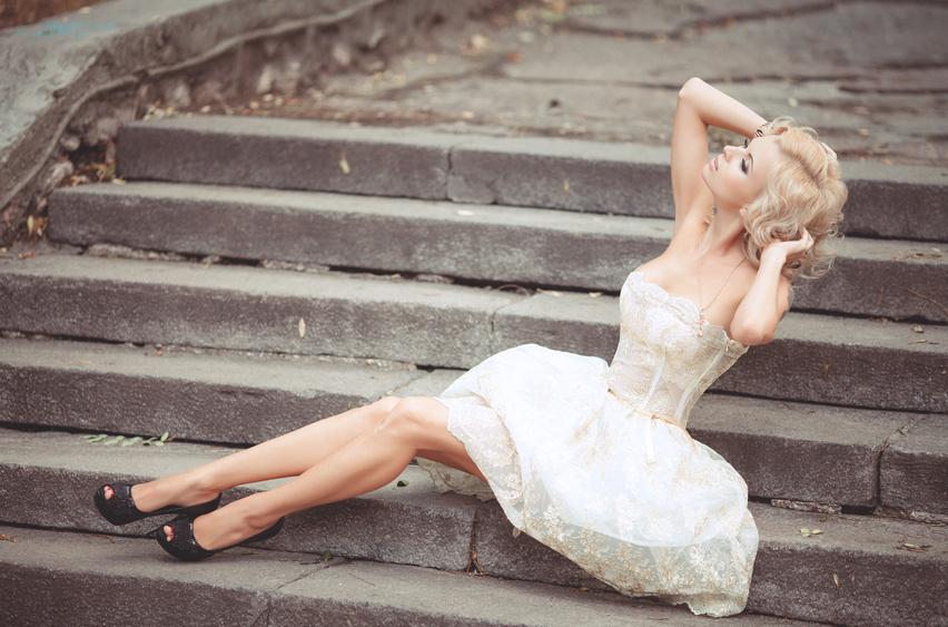 Свадебная обувь к короткому платью
