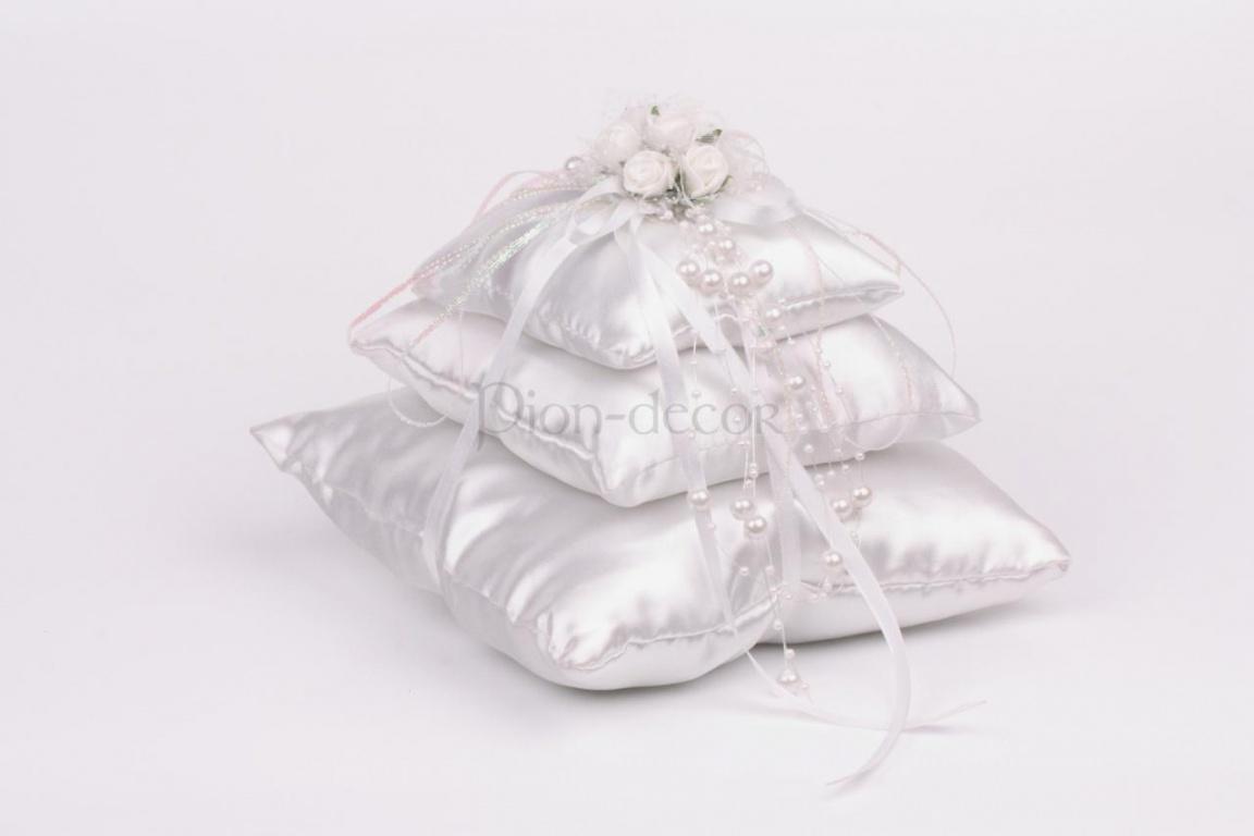 Оригинальная подушечка для обручальных колец Принцесса на горошине