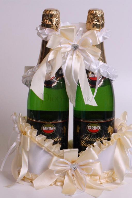 Свадебные украшения на шампанское