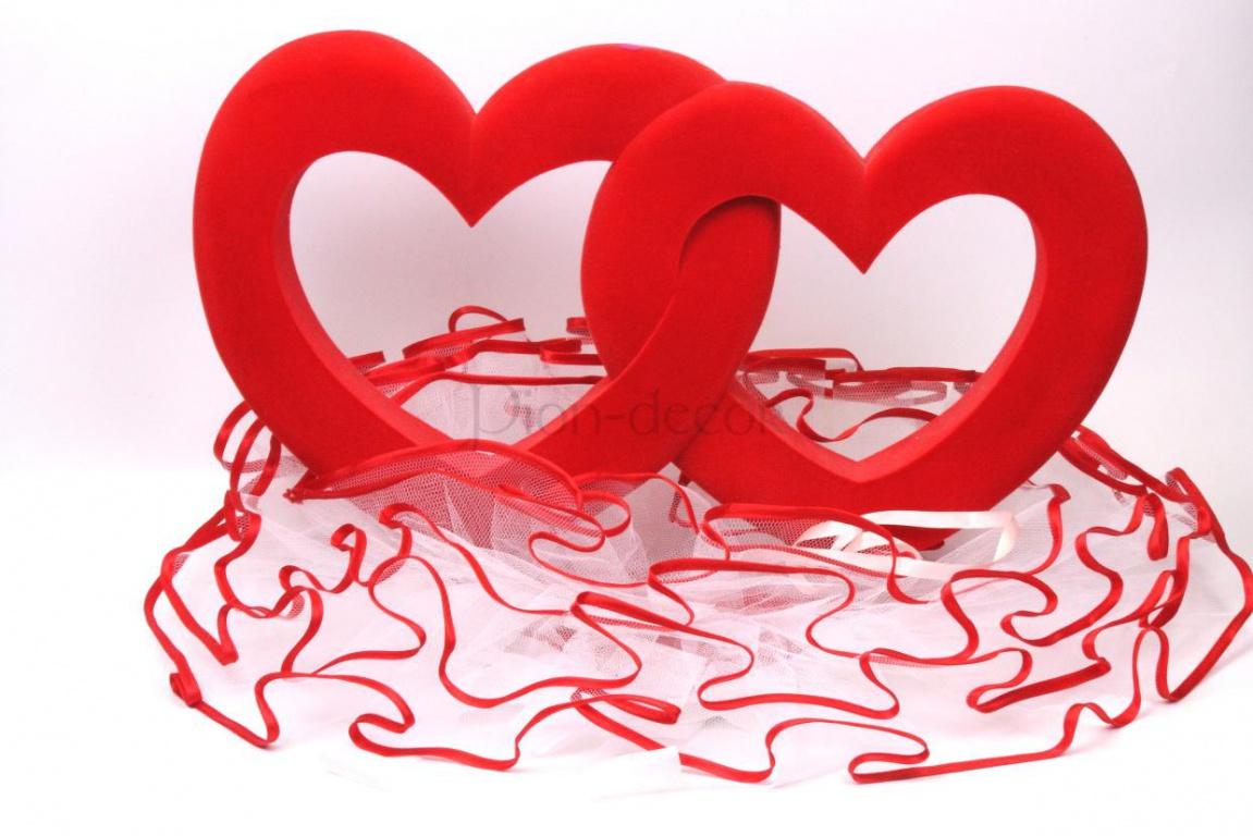 Украшения на свадебную машину - сердца
