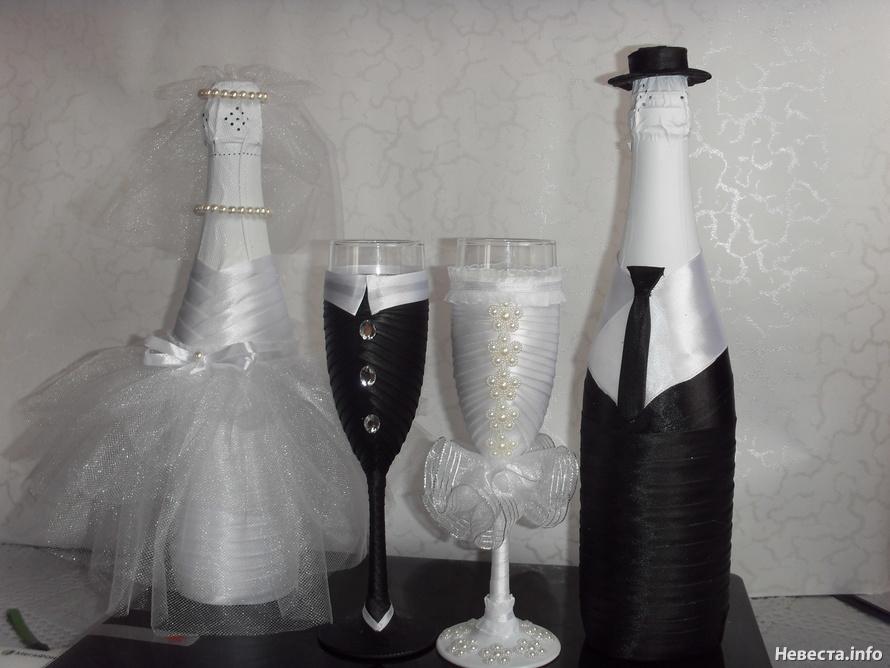 Свадебные бокалы лентами своими руками мастер класс